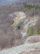 Rock Climbing Photo: View from the summit down the Lower Ridge outcrops...