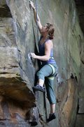 Rock Climbing Photo: Inappropriate behavior 5.12, Grand Ledge, MI