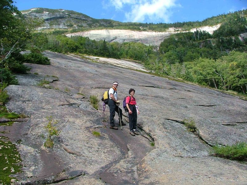 Rock Climbing Photo: After the bushwhack, this class 2 slab was a welco...