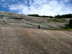 Rock Climbing Photo: Approaching the main climbing slab, walking up the...