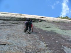 Rock Climbing Photo: Sheila climbs P1 while Bob belays, and Ed takes th...