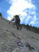Rock Climbing Photo: Starting out on P2