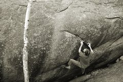 Rock Climbing Photo: Carefully by Hand V12 Elkland 2012