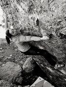 Rock Climbing Photo: Courtney on Potato Chip V7