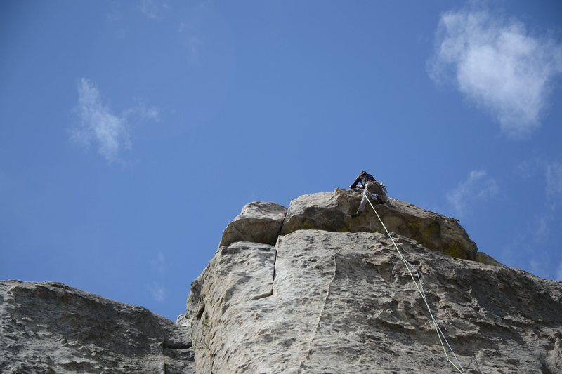 Rock Climbing Photo: cool roof feature on top of mystery achievment