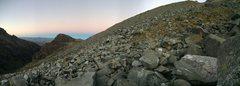 "Rock Climbing Photo: The ""trail"" traversing toward the morain..."
