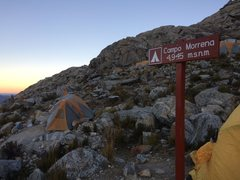 Rock Climbing Photo: Moraine camp. Camp here and save an hour but is it...