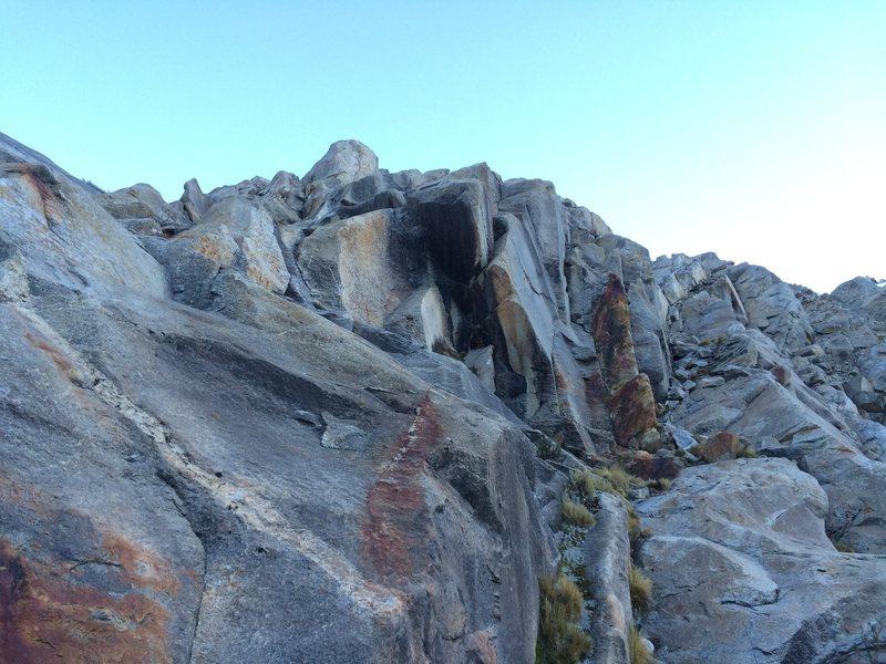 Rock Climbing Photo: I took the corner slab at left.