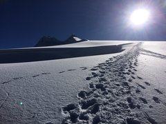 Rock Climbing Photo: The peaks of Vallunaraju in the distance. 3 hours ...