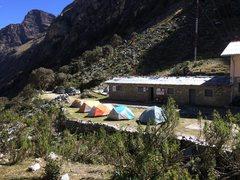 Rock Climbing Photo: Base camp at the refugio