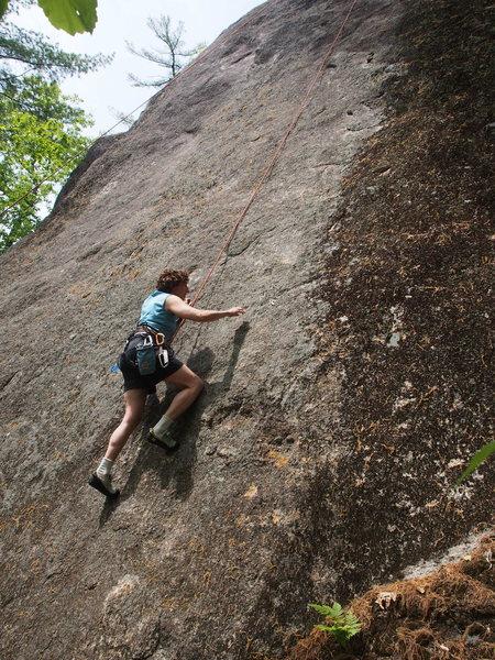 Rock Climbing Photo: S. Matz on Golden Slippers