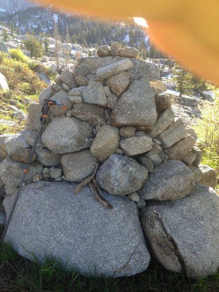 huge cairn