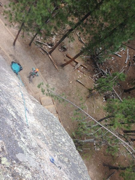 Rock Climbing Photo: Looking down Full Speed Ahead from the Top Anchors...