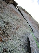 Rock Climbing Photo: the flake on Animal Cracker