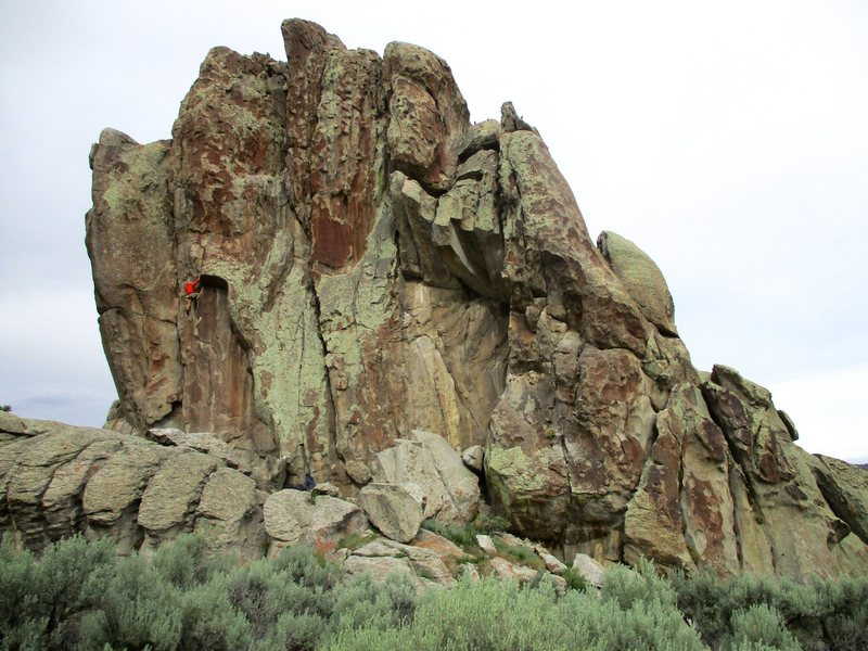 The west side of Building Blocks. The climber in the photo is on Scraps.