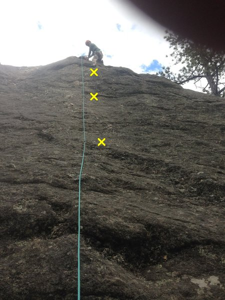 Gang Plank roughly follows the rope line. Marte&@POUND@39@SEMICOLON@ Hepburn on lead.