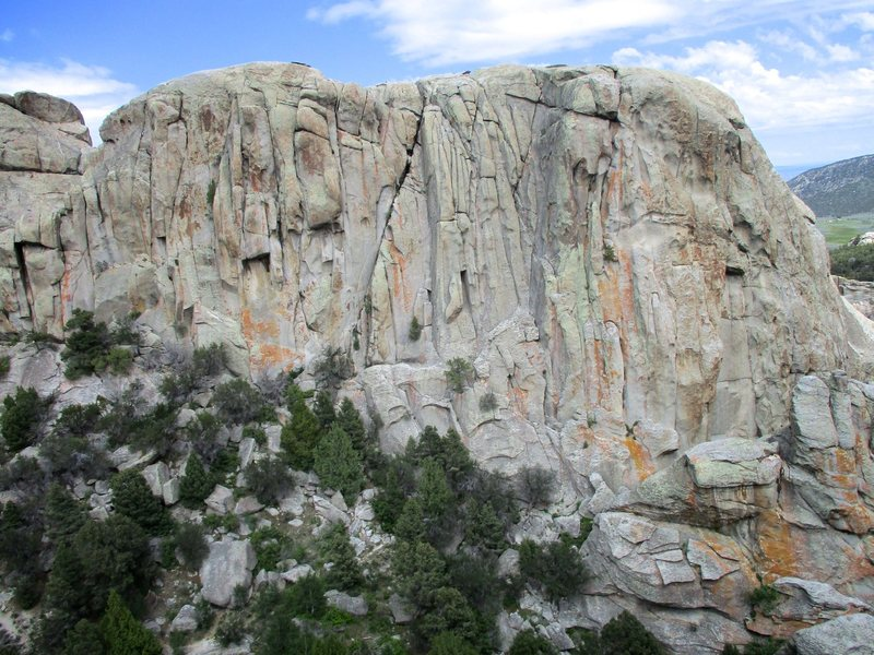 The west side of Rabbit Rock as seen from Window Rock.