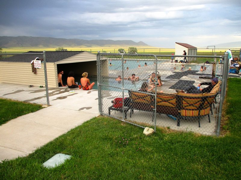 After a day of climbing in the City, take a dip at the Durfree Hotsprings in Almo....