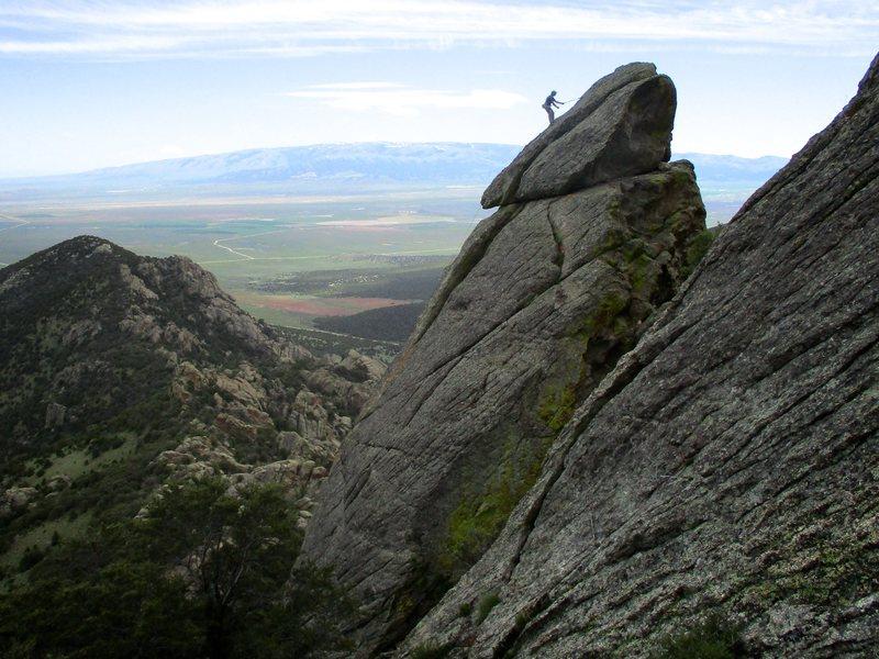 Climber on Felspfeiler.