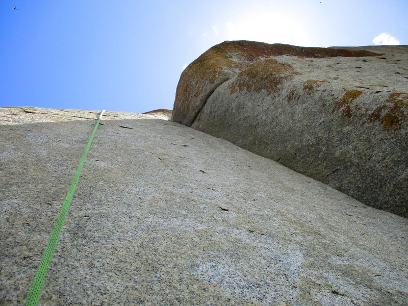Rock Climbing Photo: Looking up Reaper from the base. This is a short r...