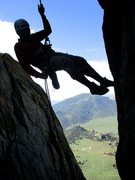 Rock Climbing Photo: The descent from Jackson's Thumb involves two ...