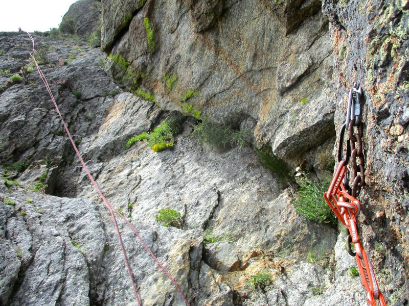 Rock Climbing Photo: The rappel from Stienfell's Dome involves two ...