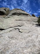 Rock Climbing Photo: Looking up from the base of Sinocranium. The first...