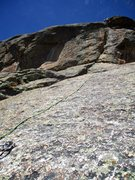 Rock Climbing Photo: Pitch 4 of Sinocranium goes up the steep section. ...