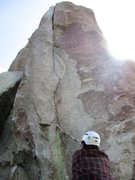Rock Climbing Photo: We found a handy stick at the base of Crack of Doo...