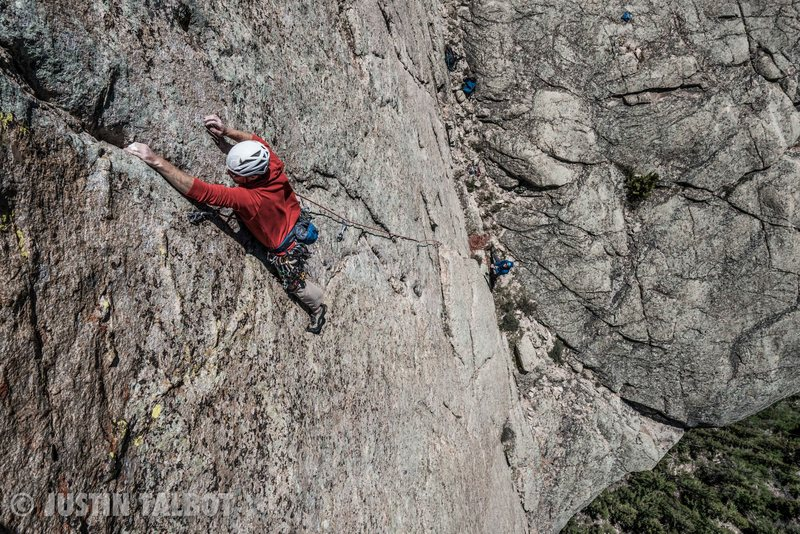 """Rock Climbing Photo: Josh Alford on """"Waves of Thunder"""" on the..."""