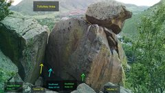 Rock Climbing Photo: Tofurkey Area:  Veggie Burger Arete, V1. Corner, V...