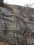 Rock Climbing Photo: the route as seen from the base