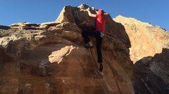 Rock Climbing Photo: The top stuff.