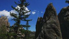 Rock Climbing Photo: Dobbe climbing Goldstone's Riddle