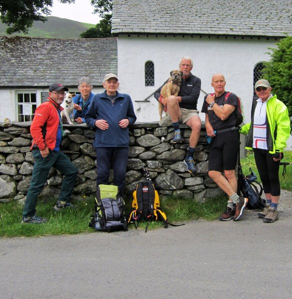 Hiking   June16th 2016  Outside Newlands Church .. Lake District