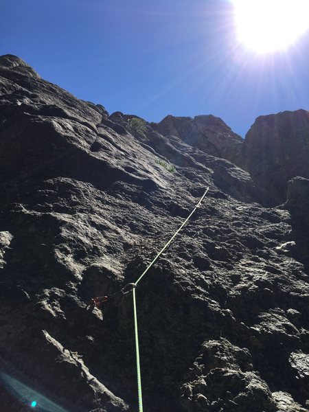 Rock Climbing Photo: Looking up from the base of pitch 1 on Bog of the ...