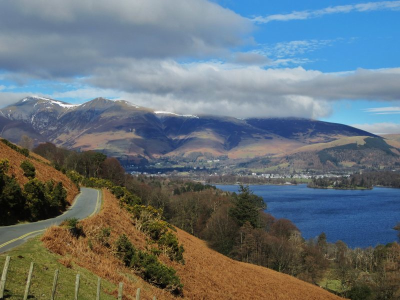 Skiddaw Mt above town of Keswick