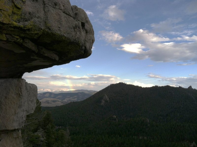 Rock Climbing Photo: Looking SE from near the top of the main Blue Clou...