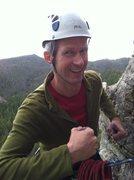 Rock Climbing Photo: A. Gams hamming away