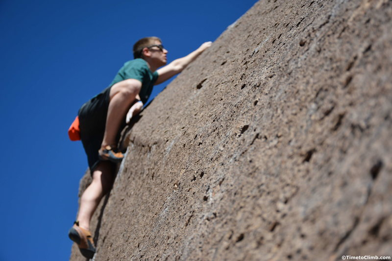 Andrew Messick on Heavenly Path - http://www.timetoclimb.com/bouldering/climbing-in-bishop-the-happy-boulders