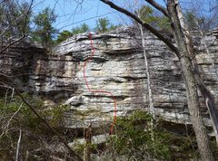 Rock Climbing Photo: Right Off Block.