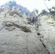 Rock Climbing Photo: Alison sending Admiral Slackbar.
