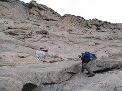 "Rock Climbing Photo: J.P. Gartland descending the ""homestretch&quo..."