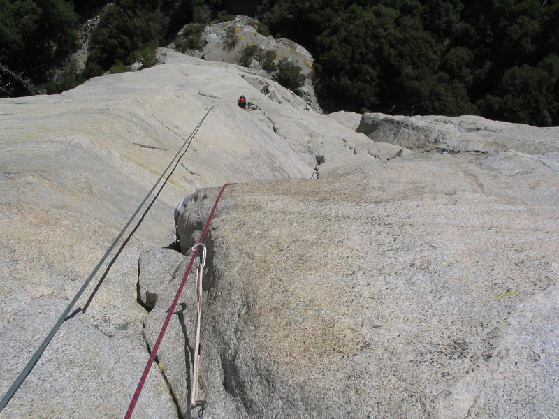 "Rock Climbing Photo: On the lower ""free blast"" pitches, 2005"