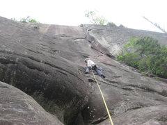 Rock Climbing Photo: Starting the 5.9+ crack