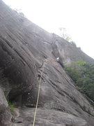Rock Climbing Photo: Reaching the dynamic corner