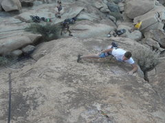 Rock Climbing Photo: Tristin Warzecha leading Forty-Nine Rainbows.