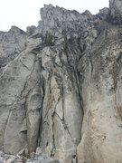 Rock Climbing Photo: Base of the route, there is a large kairn (not pic...