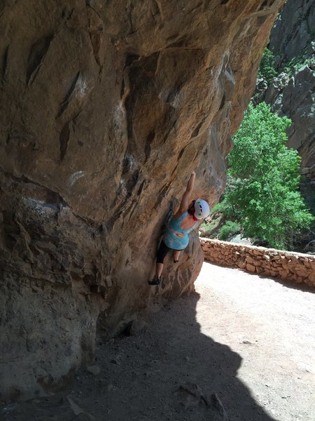 Rock Climbing Photo: Finally met my goal of completing a tricky move!