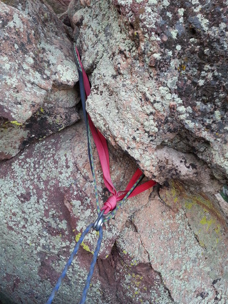 Rock Climbing Photo: Anchor update, as of 6/16/16, the anchor has some ...